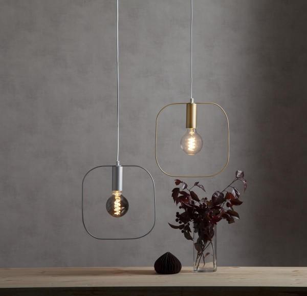 "B-Ware Deko-Lampenfassung SHAPE ""S"" - gold - 30x30cm - E27 - max 25W"