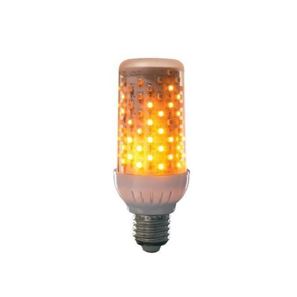 Fire LED PRO - Flammenlampe klar - simuliert loderndes Feuer - E27 - 465 Lumen