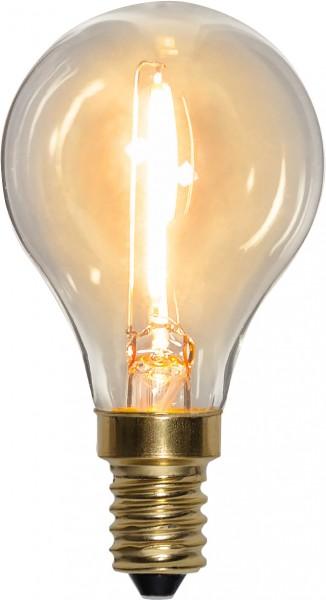 LED Leuchtmittel FILA GLOW - P45 - E14 - 0,8W - warmweiss 2100K - 70lm - klar