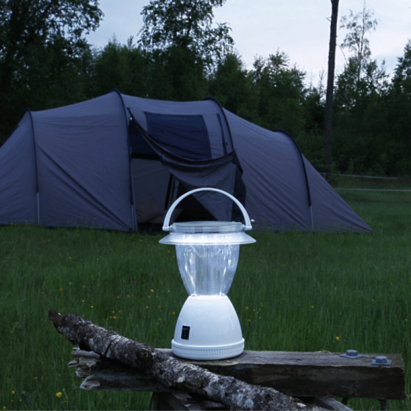 LED-Campinglaterne - Solar - 12x Kaltweiße LEDs - 15 bis 50 Lumen