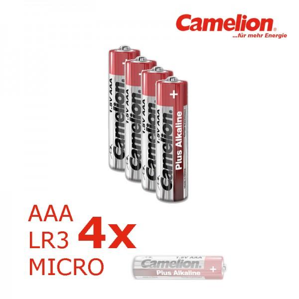 Batterie Mignon AAA LR3 1,5V PLUS Alkaline - Leistung auf Dauer - 4 Stück