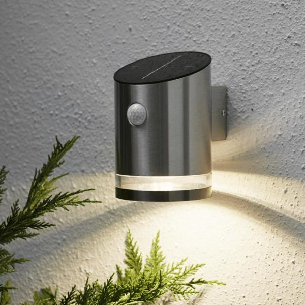 """LED Solar Wandleuchte """"Venice"""" - 4 warmweiße LED - H: 15cm - Bewegungs- & Dämmerungssensor - 65lm"""