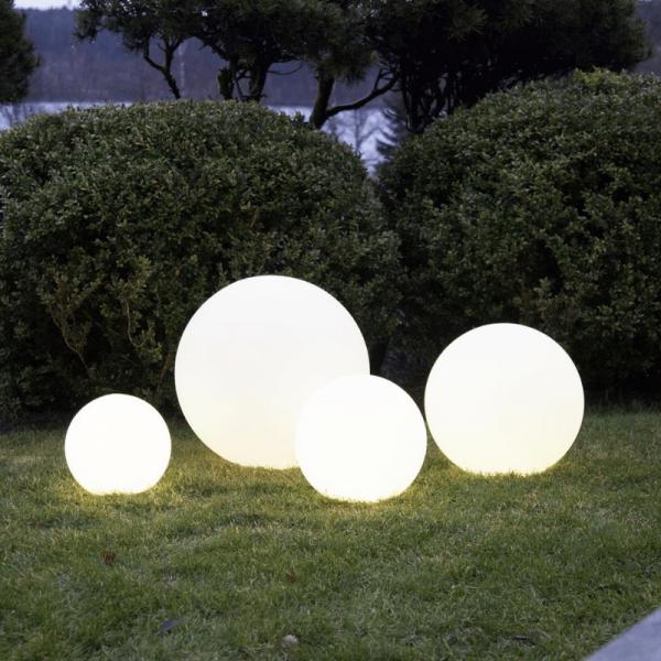 "LED Kugel ""Twilights"" - 50cm - RGB Farbwechsel oder feste Farbe - Fernbedienung - Aufladbar - IP44 3"