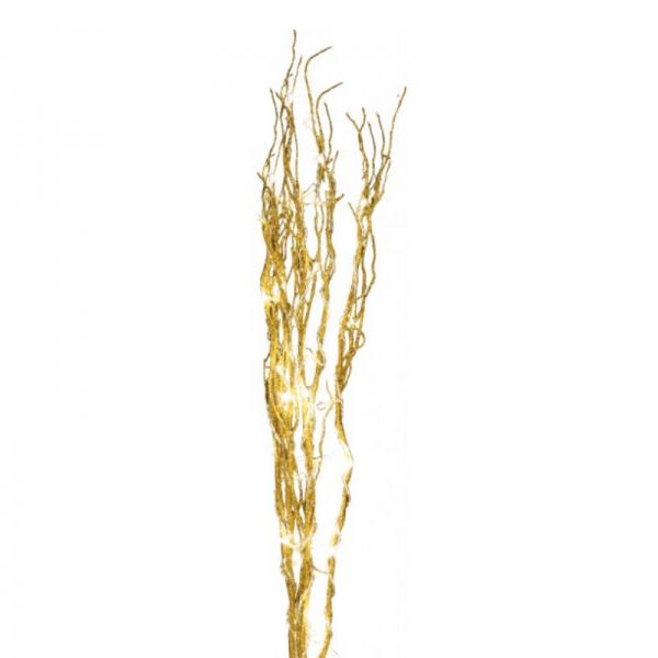 "LED Leuchtzweig ""Willow"" - goldfarbene Weide - 30 warmweiße LED - H: 60cm - inkl. Trafo"