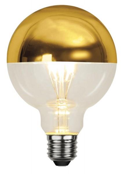 LED GLOBE FILA TOP COATED silber G95 - E27 - 4W - WW 2700K - 330lm -  dimmbar