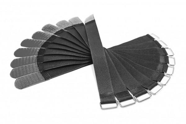 Kabelbinder / Kabelklette - 2,0cm Breit - 30cm lang - Schwarz/Schwarz - 10 Stück