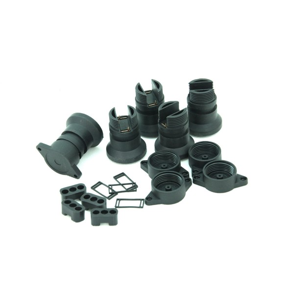 5 x E27 Sockel für ILLU Lichterketten -Zum Selbstbau einer Außenlichterkette | SATISFIRE