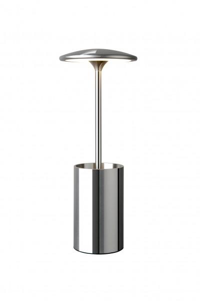 Tischleuchte LED POTT chrom - mit Stifteköcher - Ideal für Büro - 7W, 3000K, 455lm - 29cm