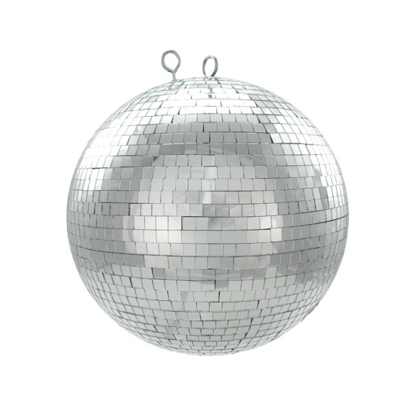 Spiegelkugel 30cm silber- Diskokugel (Discokugel) Party Lichteffekt - Echtglas - mirrorball silver chrome