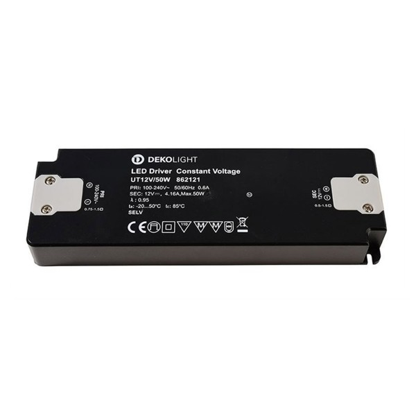 Kapego Netzgerät flach - 12V 50W 4,16A - schwarz - kurzschluss- überlastfest - 185x62x22mm