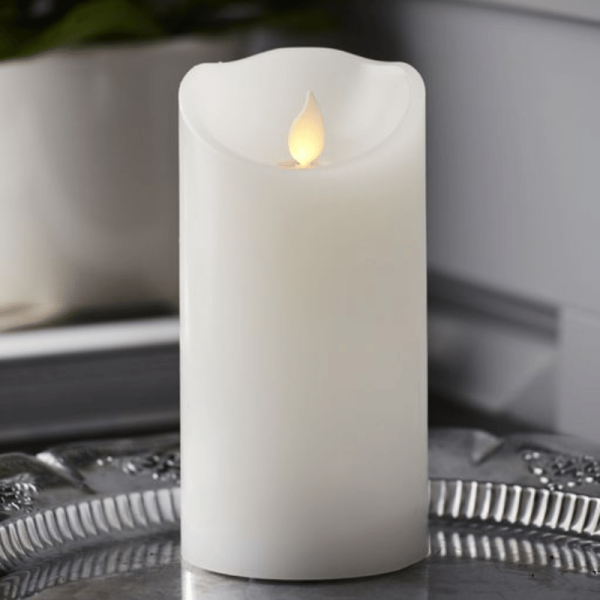 """LED Kerze """"M-Twinkle"""" - Echtwachs - mechanisch bewegte Flamme - Timer - H: 15cm - weiß"""