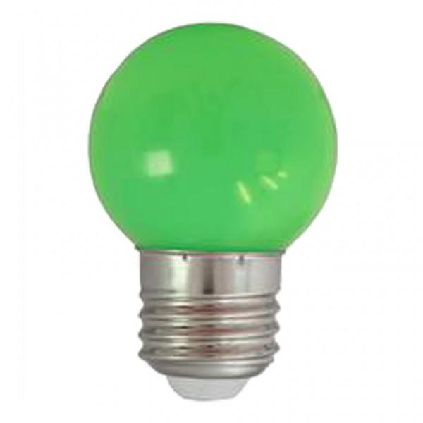 LED-Leuchtmittel   Heitronic   G45 - E27   1W   Grün