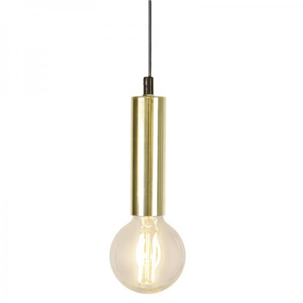 Lampenfassung GLANS - E27 Fassung - Schalter - H: 15cm - hängend - messing