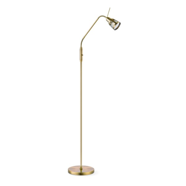 Stehlampe SOLO bronze - GU10 Fassung - 140cm - flexibler Kopf