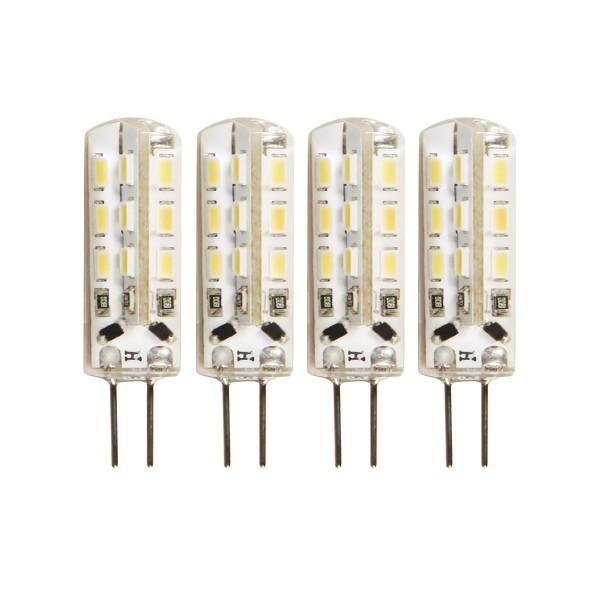 4er - LED Leuchtmittel Stiftsockel G4 - 12V - 1,5W - 120lm - 4000K