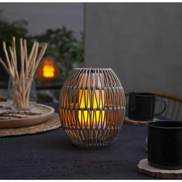 Dekoleuchte/Lampenschirm - D: 15cm, H: 18cm - für E27 Fassungen - outdoor - beige