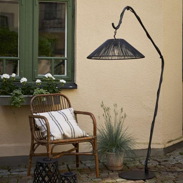 Lampenschirm VIDE wetterfest - für E27 Fassungen - schwarz - D: 58cm - H: 18,5cm