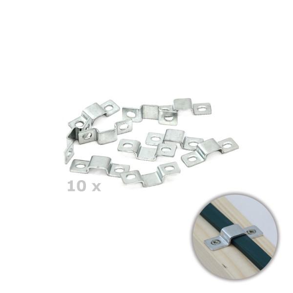 10er Set Metall-Clip für Illu-Kabel   SATISFIRE