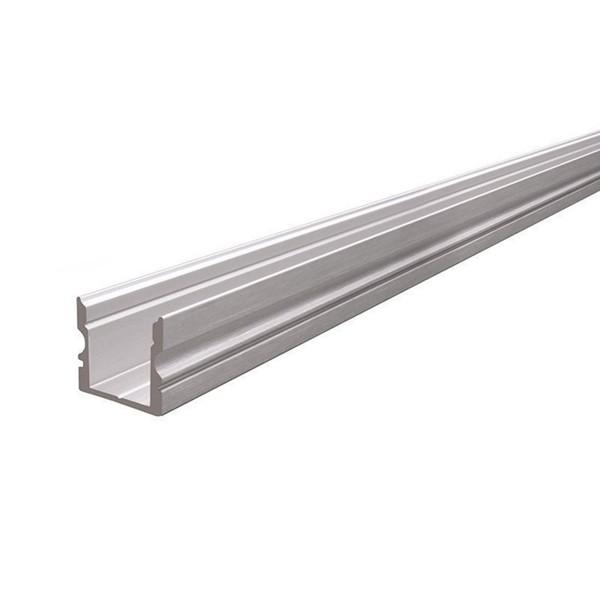 Hohes U-Profil - 2 Meter - Aluminium gebürstet - Außen: 16x15 - Breite innen: 11,7mm