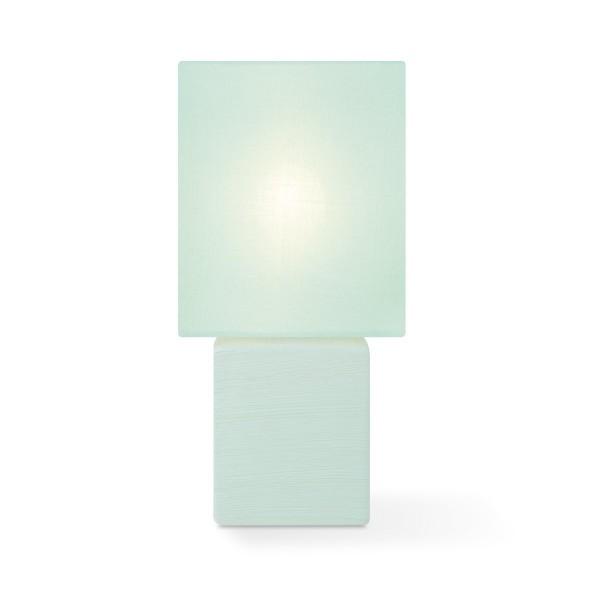 Tischleuchte mit Schirm CHARM quadratisch - pastellgrün - E14 - 30cm