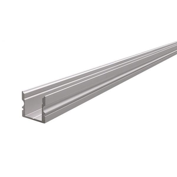 Hohes U-Profil - 1 Meter - Aluminium eloxiert - Außen: 16x15 - Breite innen: 11,7mm