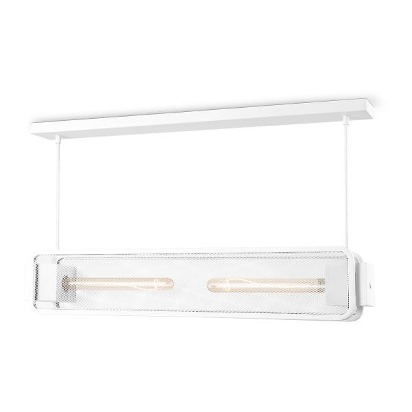 Moderne Deckenlampe WEAVE II weiß - für 2 Filament LED Leuchtmittel - 80cm x 11cm - E27
