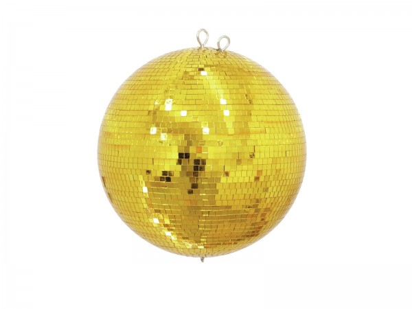 Spiegelkugel 50cm gold- Diskokugel (Discokugel) Party Lichteffekt - Echtglas - mirrorball safety gold color