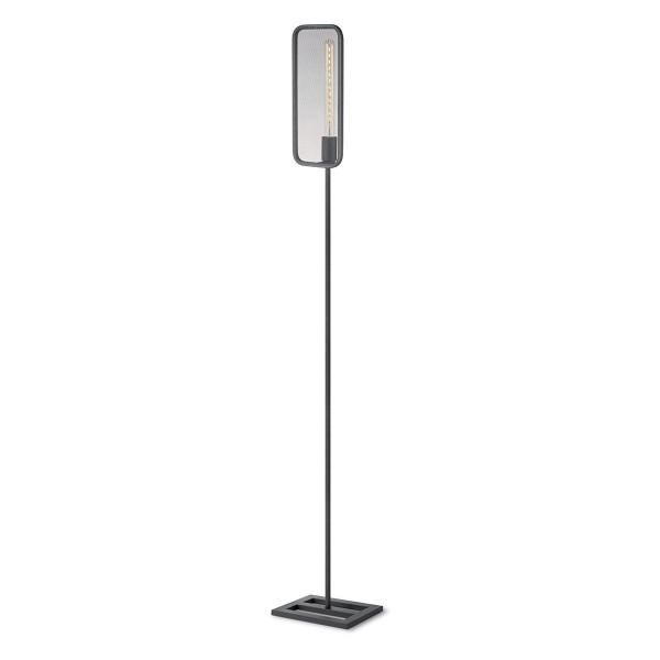 Moderne Stehlampe WEAVE schwarz - für Filament LED Leuchtmittel - 160,5cm - E27