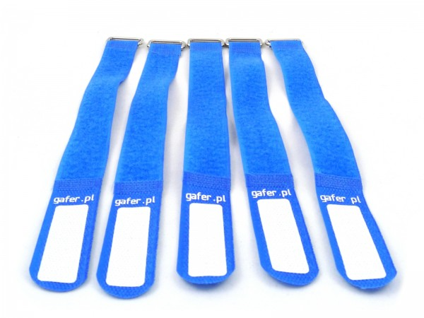 Kabelbinder Klettverschluss 25x400mm 5er Pack blau