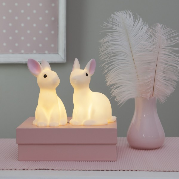 """LED Lichterkette """"Bunny"""" - 10 weiße Häschen mit warmweißen LED - 1,35m - Batterie - Timer"""