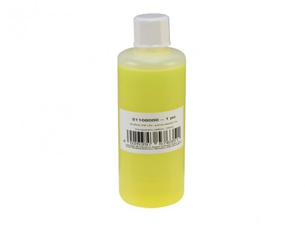 UV -aktive Stempelfarbe - transparent gelb - 100ml