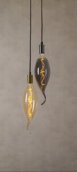 XXL Design Leuchtmittel amber - LED Filament - 42cm - E27 - dimmbar - 2100K ultra warmweiß - 220lm