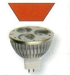 Ersatz-Leuchtmittel Power LED System 24 - rot - 3x1W GU5,3 24V