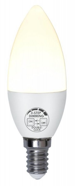 LED Kerzenlampe SMART 3STEP DIMMING - C37 - E14 - 5W - WW 2700K - 360lm