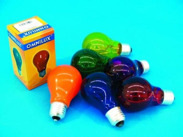 Glühlampe - Omnilux A19 - E27 - 40W - Rot