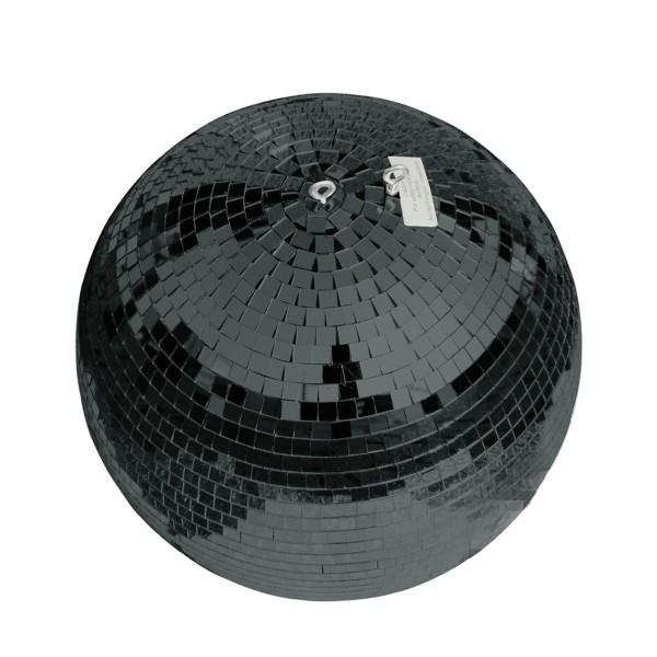 Spiegelkugel 40cm schwarz- Diskokugel (Discokugel) Party Lichteffekt - Echtglas - mirrorball safety black color