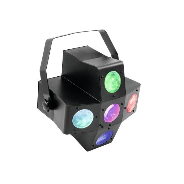 Strahlenshow PUS-7 - raumfüllender, 4farbiger Lichteffekt - Musiksteuerung, Automatik, Fernbedienung