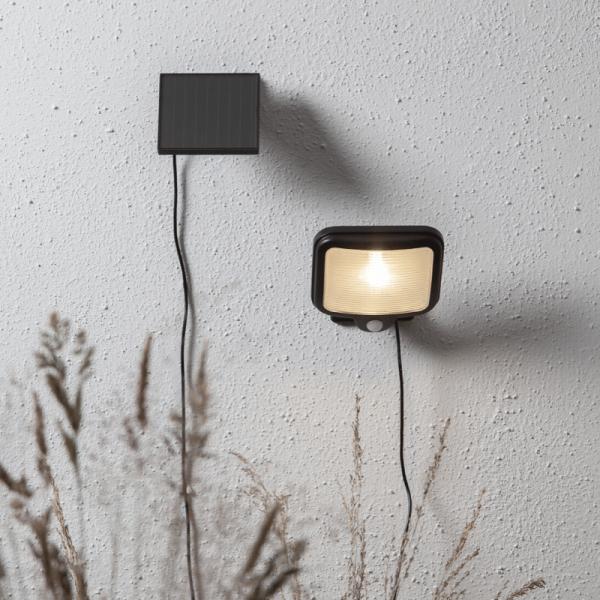 """LED Solar Strahler """"Powerspot"""" - warmweiß - 200lm - mit Bewegungsmelder und Lichtsensor - H: 14cm"""