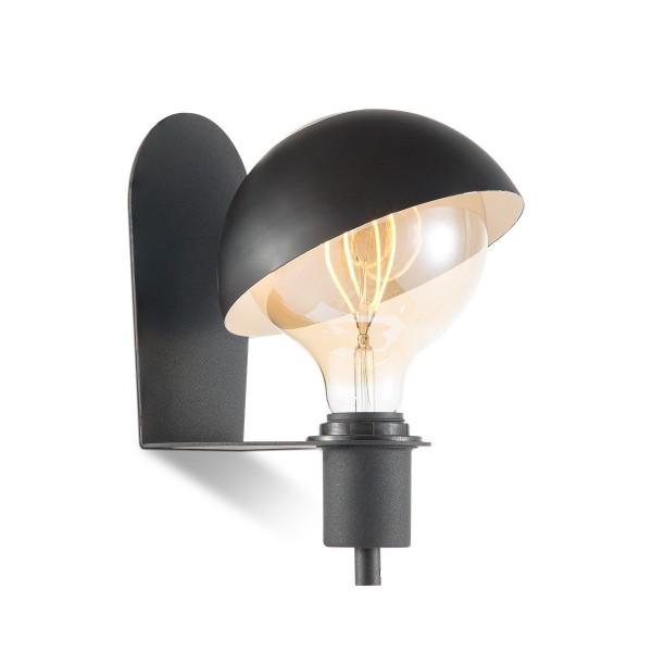 Wandlampe DYNA schwarz - E27 - beweglicher Schirm