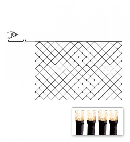 LED Lichternetz - Serie LED - outdoor - 90 warmweiße LED - 1.00m x 2.00m - schwarzes Kabel