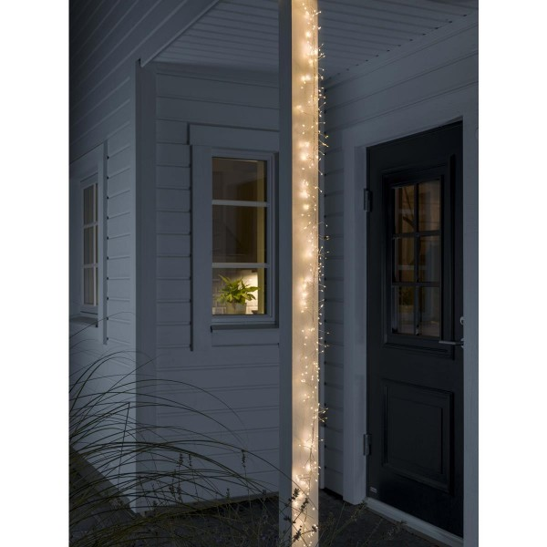 LED Micro Büschellichterkette - Cluster - 360 ultra warmweiße LED - L: 2,2m - 8 Funktionen - Outdoor