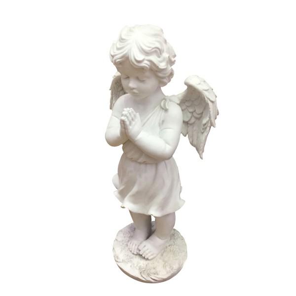 Engel stehend und betend - weiss - 50 x 24 x 17cm