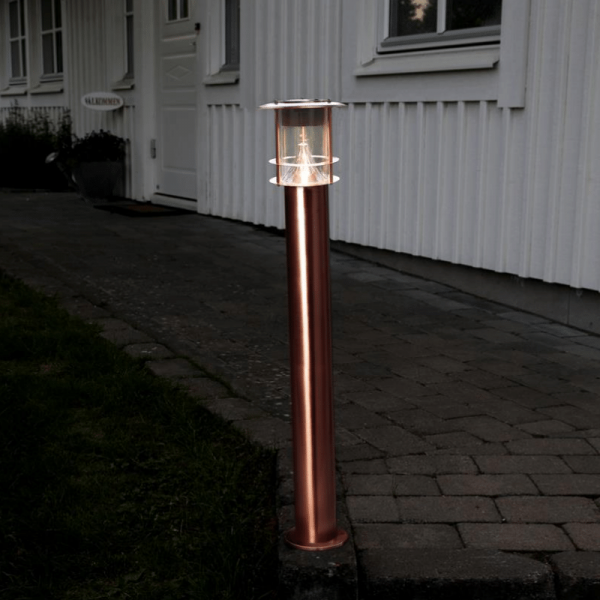 "LED Solar Wegleuchte ""Valencia"" - Edelstahl - 6 warmweiße LED"