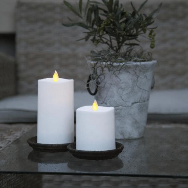 LED-Kerze   Glim   mechanisch bewegte Flamme   ↑13,5cm