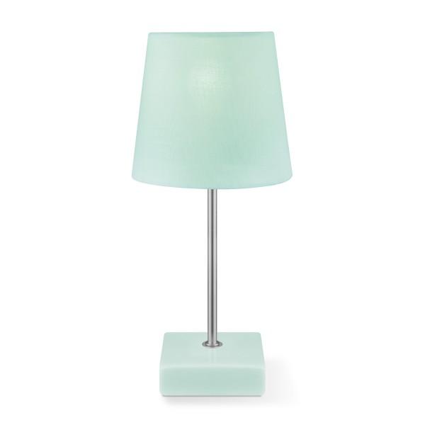 Tischleuchte ARICA - mintgrün - 27cm hoch - E14 Fassung - Keramiksockel