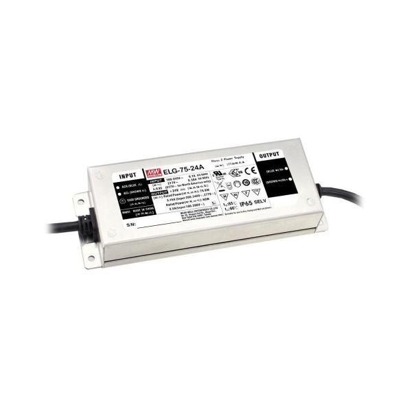 LED Netzteil / Treiber ELG-75-24DA-3Y - Dual Mode - Konstanspannung + Konstantstrom