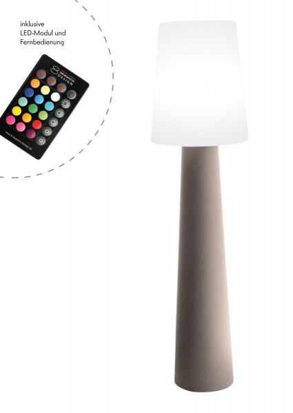 """Outdoor XL Stehlampe No. 1 """"Sand"""" H:160cm - LED Modul - Außenleuchte IP44"""