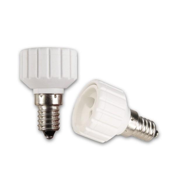Lampensockel Adapter für Leuchtmittel - Porzellan - max 100W - E14 auf GU10