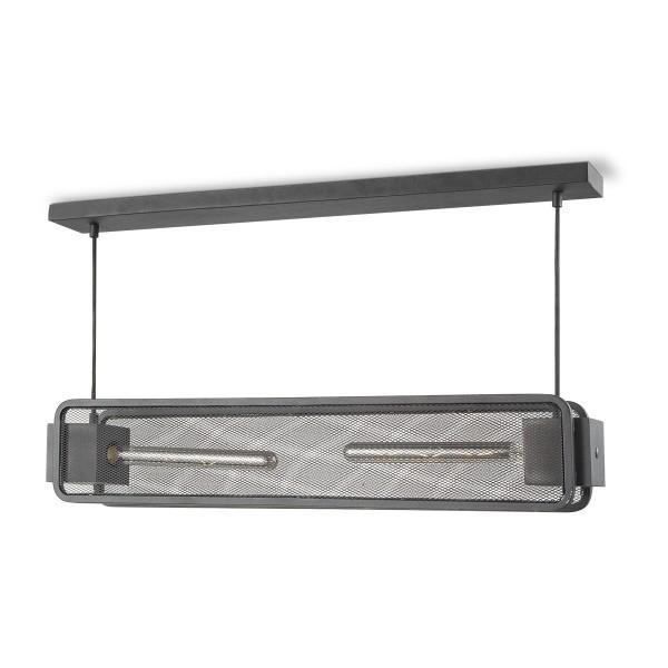 Moderne Deckenlampe WEAVE II schwarz - für 2 Filament LED Leuchtmittel - 80cm x 11cm - E27