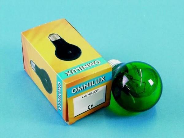 Glühlampe - Omnilux A19 - E27 - 25W - Grün
